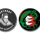 Countess Elizabeth Bathory Button set of 2 (25mm, badges, pins, horror, serial killer)