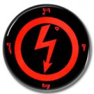 Marilyn Manson band button (25mm, 1inch, pinbacks, industrial, heavy metal)