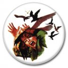 Alfred Hitchcock Birds Movie button (25mm, badges, pins, horror, birds, psycho, horror)