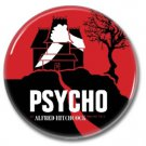 Alfred Hitchcock button (25mm, badges, pins, horror, birds, psycho, horror)