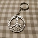 Peace Symbol Keychain (keyring, keys, charm, pendant)