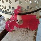 Acrylic Pink Vespa Scooter Keyring (pleaxiglass, keychain, lanyard, key fob)