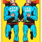 Cold War Propaganda fridge Magnet (memorabilia, ww ii, military, poster, vintage,atomic bomb)