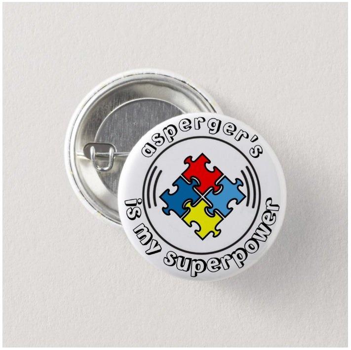 Asperger's Is My Superpower button (badges, pins, medical alert,autism)