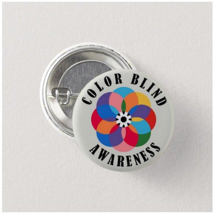 Color Blind Awareness button (badges, pins, medical alert)