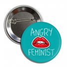 Angry Feminist button! (25mm, badges, pins, girl power, smash patriarchy)