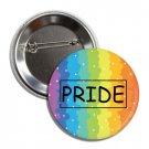 Gay Pride Button (25mm, badges, pins, rainbow, lgbtq, flag)