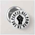 All Power To The People button (1 inch, badges, pins, black lives matter)