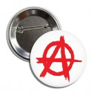 Anarchy Symbol Red Button (1', badges, pins, punk, anarchism, antifa)