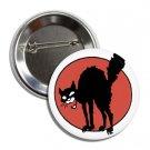 Anarchy Symbol Black Cat Button (1', badges, pins, punk, anarchism, antifa)