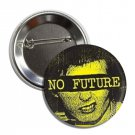 No Future button (1', badges, pins, anarchy, god save the queen, punks not dead)