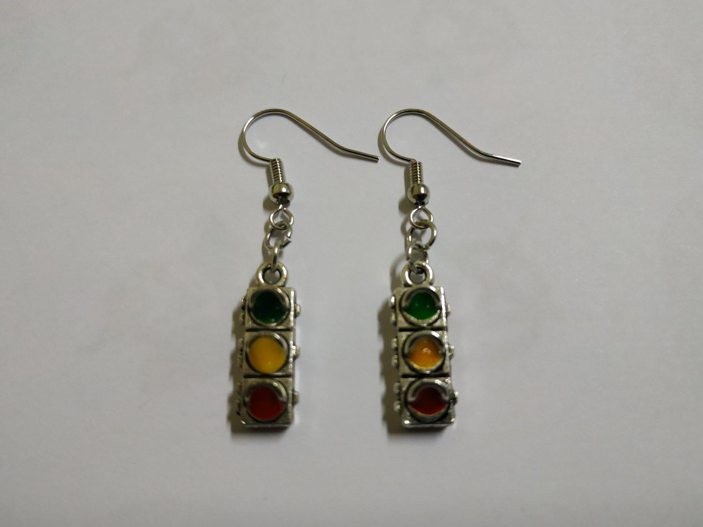 Traffic Lights Earrings (jewelry, accessories)
