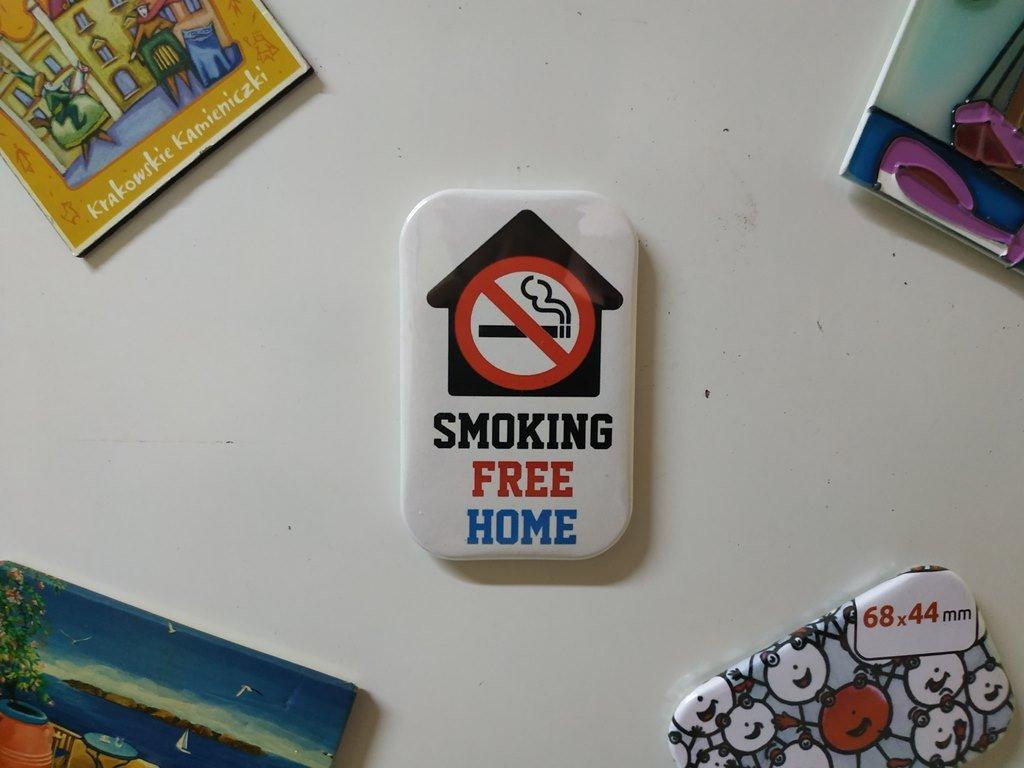 Smoking Free Home Fridge Magnet (Refrigerator Magnets, kitchen decor)