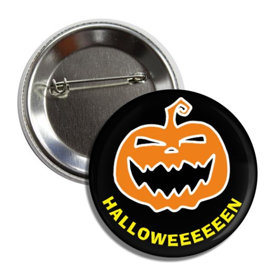 Happy Halloween button (25mm, badges, pins, trick or treat, holiday)