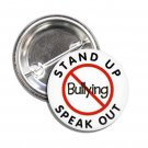 Stop Bullying Stand Out Speak Out button (1inch, badges, pins, school)