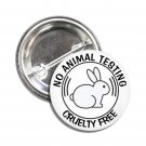 No Animal Testing Cruelty Free button (1inch, badges, pins, vegan)