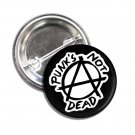 Punks Not Dead button (1', badges, pins, anarchy, god save the queen)