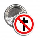 Stop Cross button (1', badges, pins, anarchy, god save the queen, punks not dead)