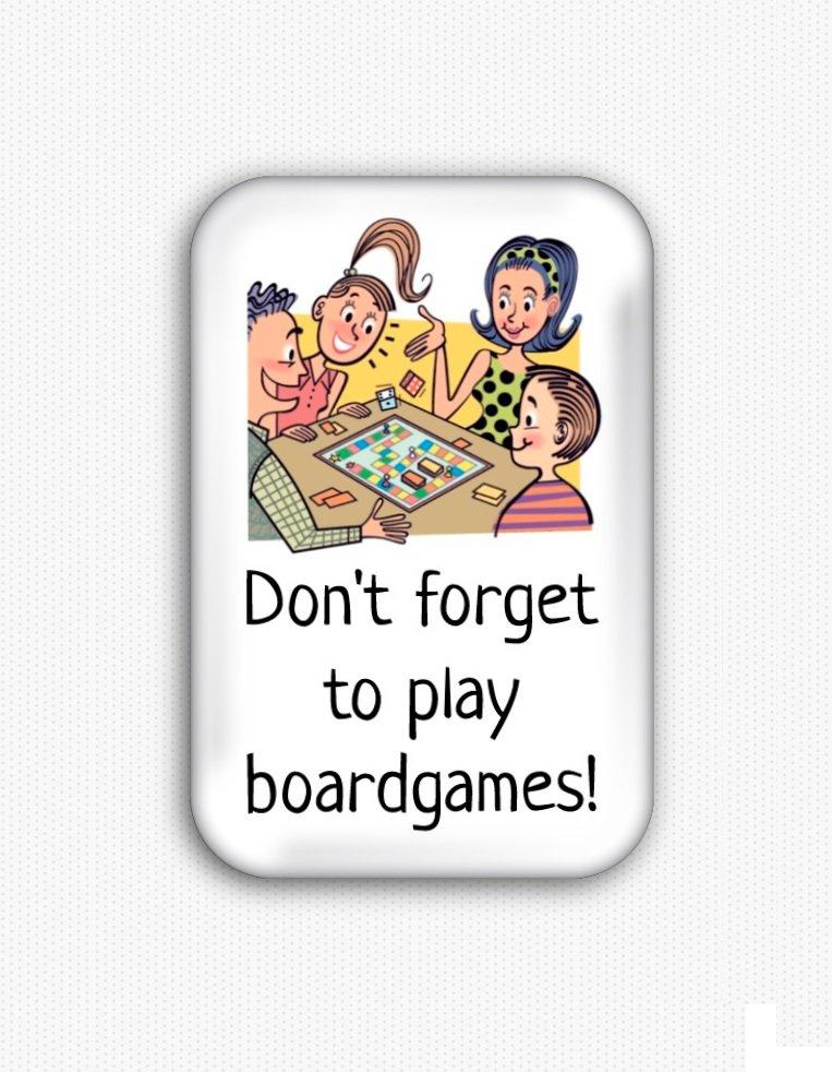 Boardgames Funny Fridge Magnet (44x68mm, refrigerator, board game, decoration)