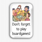 Boardgames Funny Fridge Magnet (44x68mm, refrigerator, board game, decoration)