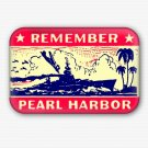 Remember Pearl Harbor Fridge Magnet (memorabilia, world war ii, military, poster, vintage)