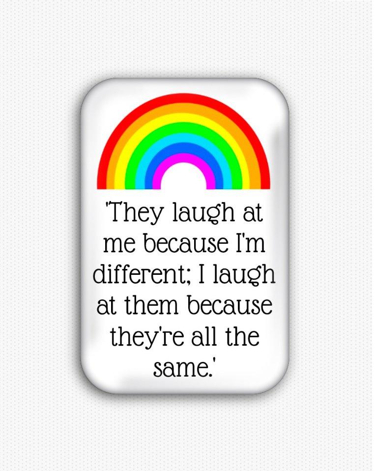 Motivational Inspirational Fridge Magnet (44x68mm, gay pride, rainbow, lgbtq)