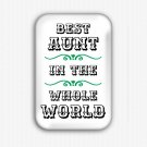 Best Aunt In The World Fridge Magnet (refrigerator magnet, birthday gift)