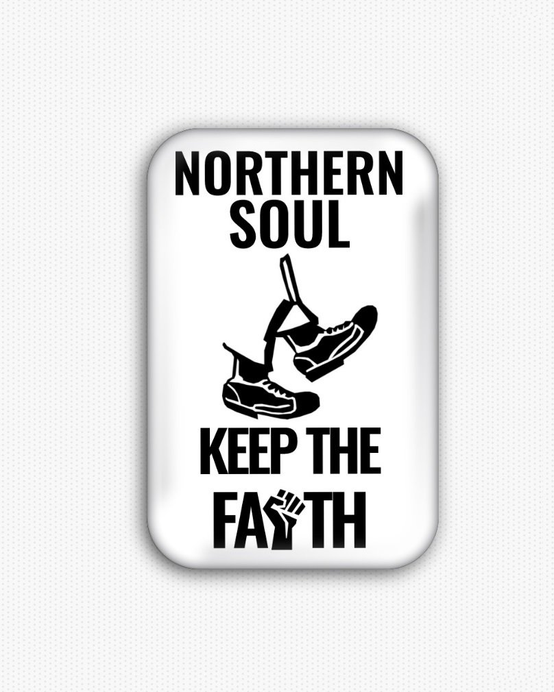 Northern Soul Fridge Magnet (44x68mm, refrigerator, vinyl, keep the faith)