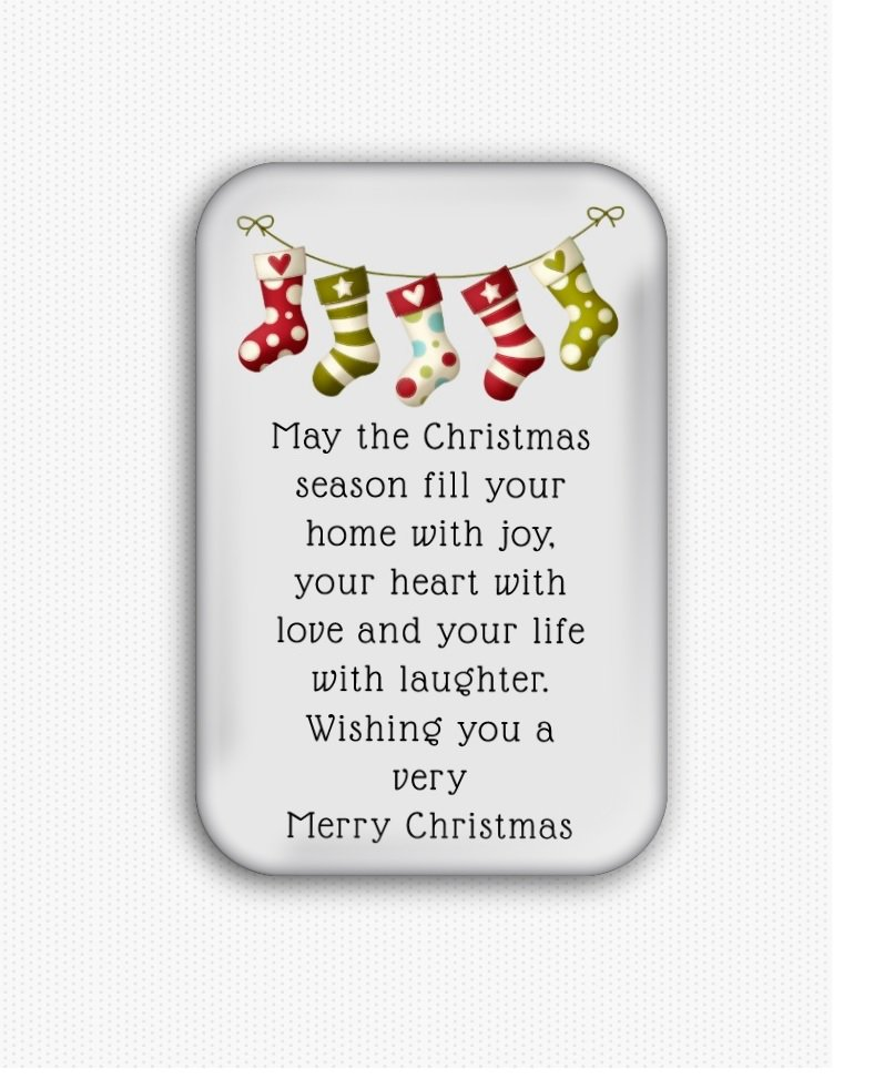 Christmas Wishes Fridge Magnet (refrigerator, holiday)
