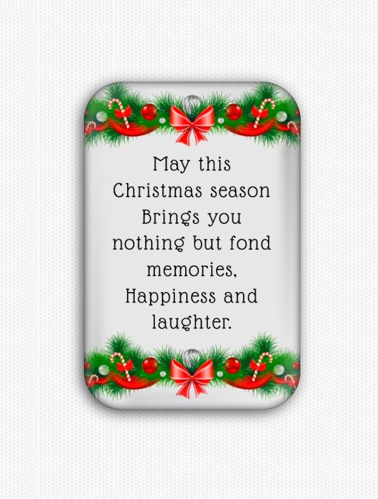 Christmas Wishes Fridge Magnet (refrigerator magnet)