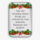 Christmas Wishes Fridge Magnet (refrigerator magnet, happy new year)