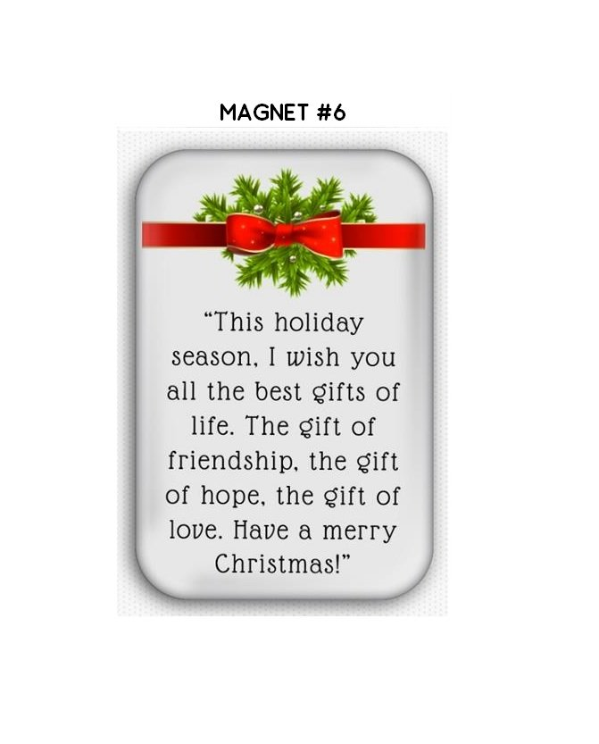 Christmas Wishes Fridge Magnet (refrigerator, years eve)