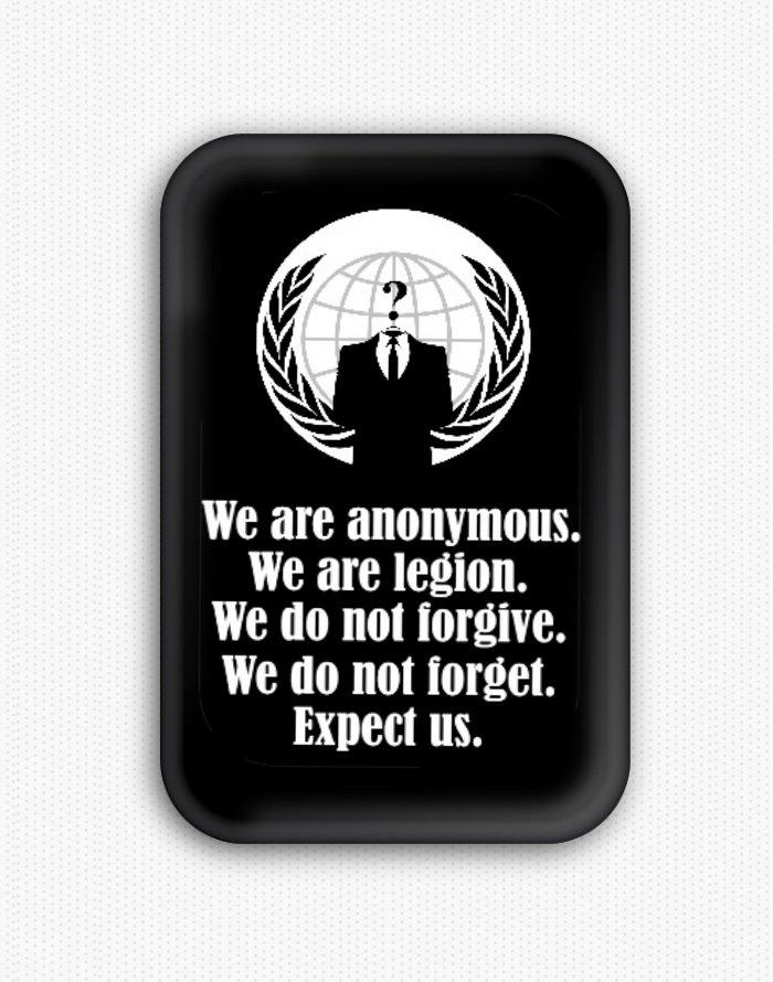 Anonymous Fridge Magnet (refrigerator, hacktivist, cyber)