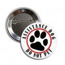 Assistance Dog button (25mm, badges, pins, medical alert)