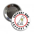 Support Dog button (25mm, badges, pins, medical alert)