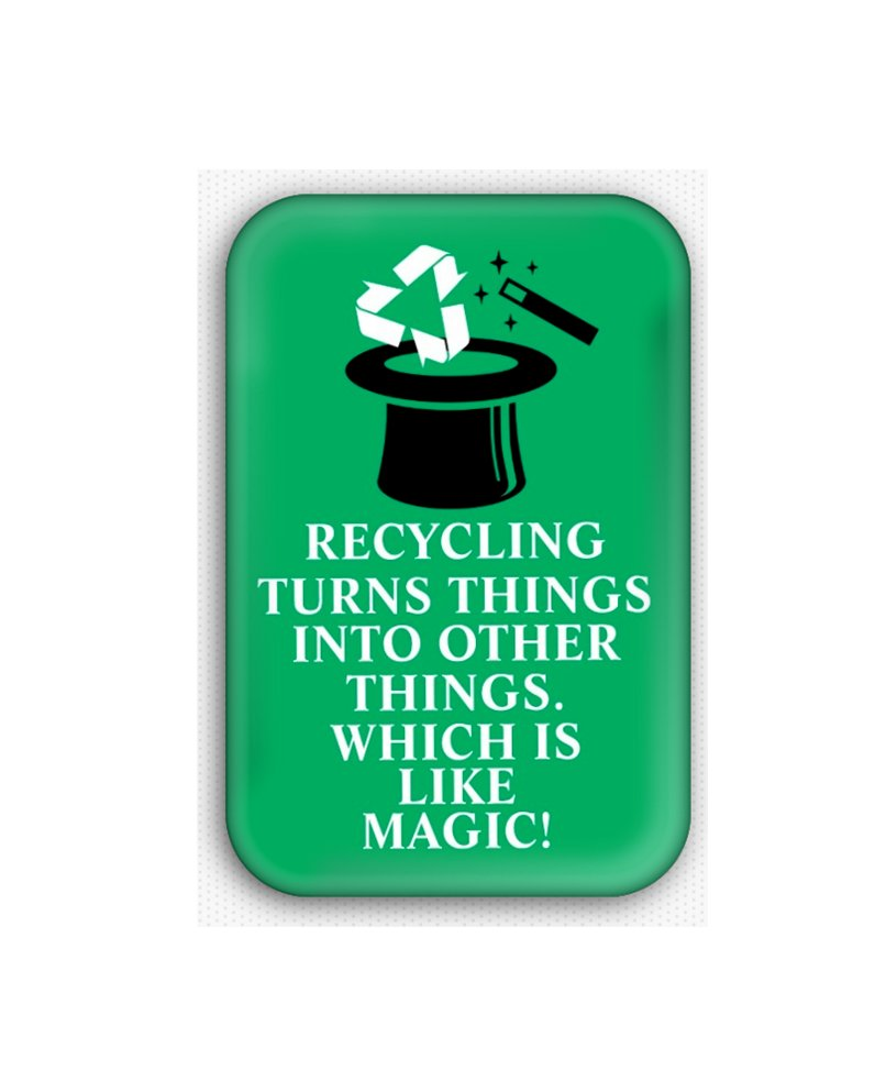 Recycle Fridge Magnet (poster, print, refrigerator, climate change)