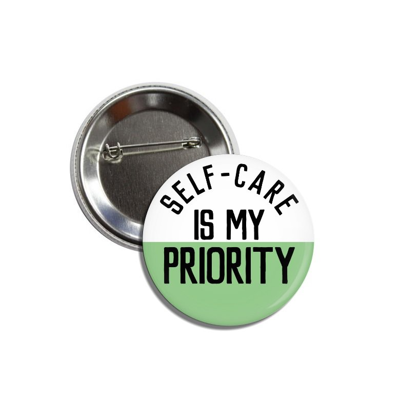 Self Care button (25mm, badges, pinbacks)