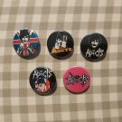 5 x Adicts band button! (25mm, badges, pinbacks, patches)