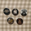5 x Extreme Metal buttons (25mm, badges, pinbacks)