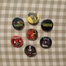7 x The Cramps band buttons (25mm, badges, pinbacks)
