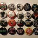 20 x Ska Punk band buttons (25mm, badges, pinbacks, patches)