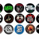15 x Metalcore band buttons (25mm, badges, pinbacks, patches)