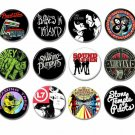 18 x Alternative Rock band buttons (25mm, badges, pinbacks, patches)