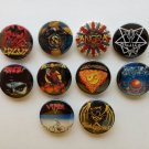 10 x Power Metal band buttons (25mm, badges, pinbacks, patches)