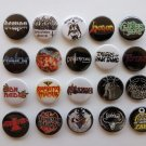 20 x NWOBHM band buttons (25mm, badges, pinbacks, patches)