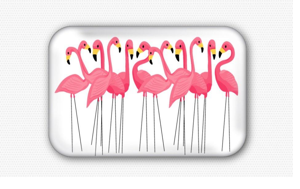 Pink Flamingo Fridge Magnet (44x68mm, refrigerator, motivational)