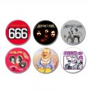6 x Aphrodites Child band buttons (25mm, badges, pinbacks)