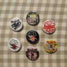7 x Hellacopters band buttons (25mm, badges, pinbacks)