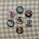 7 x Thin Lizzy band buttons (25mm, badges, pinbacks)