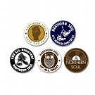 5 x Northern Soul band buttons (25mm, badges, pinbacks)